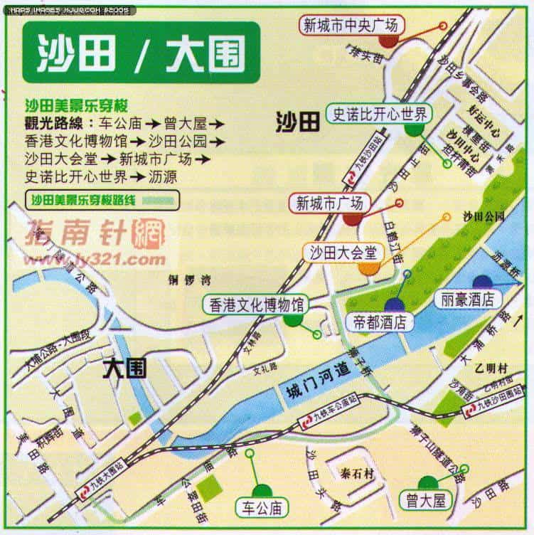 maps for Chinese tourists