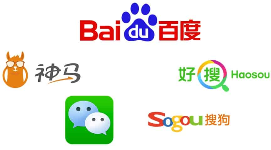 The Go To Companies for Search Engines in China