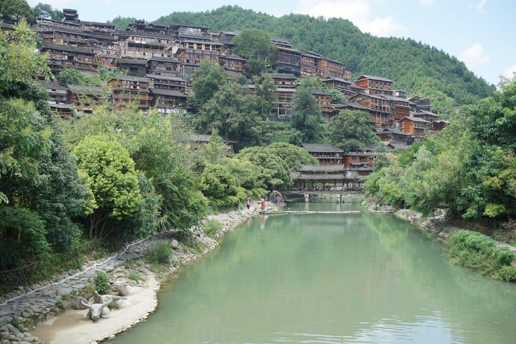 Guizhou, China one of the most popular domestic destinations during China's Golden Week.