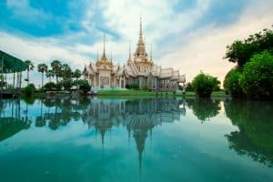 Mahawiharn Temple in Sikhio, Thailand