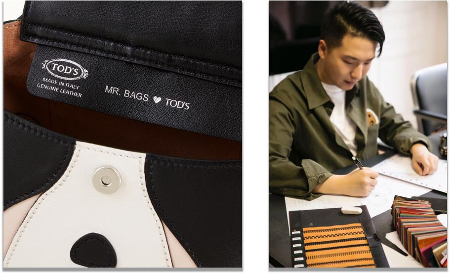 Mr. Bag's working together with Italian Brand Tod's