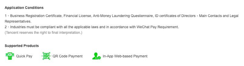 Conditions for Accepting Wechat Pay - Dragon Social