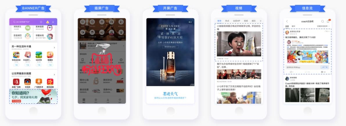 Examples of Baidu Baiyi Ad Placements on Mobile - Dragon Social
