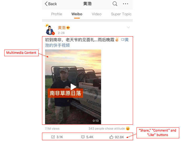Multimedia post on Weibo | Dragon Social
