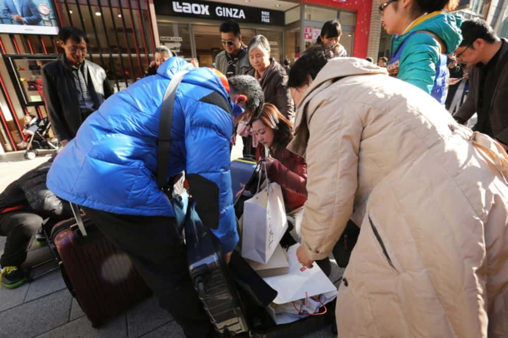 Daigous stuffing products into suitcases is a common sight in Hong Kong, Japan, Korea, and elsewhere.