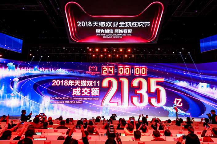 The Double 11 Festival Showcasing Total GMV Of Alibaba's China Ecommerce Platforms