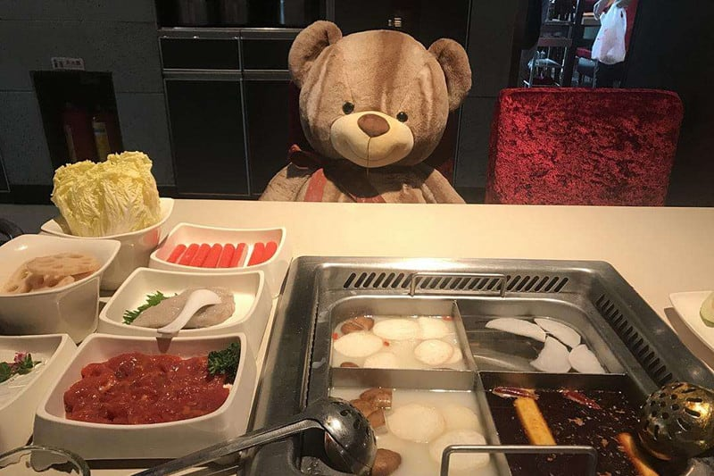Picture of Teddy Bear At Haidilao