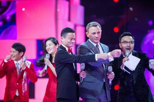 Daniel Craig was one of the many celebrities invited to attend the first Singles Day Gala