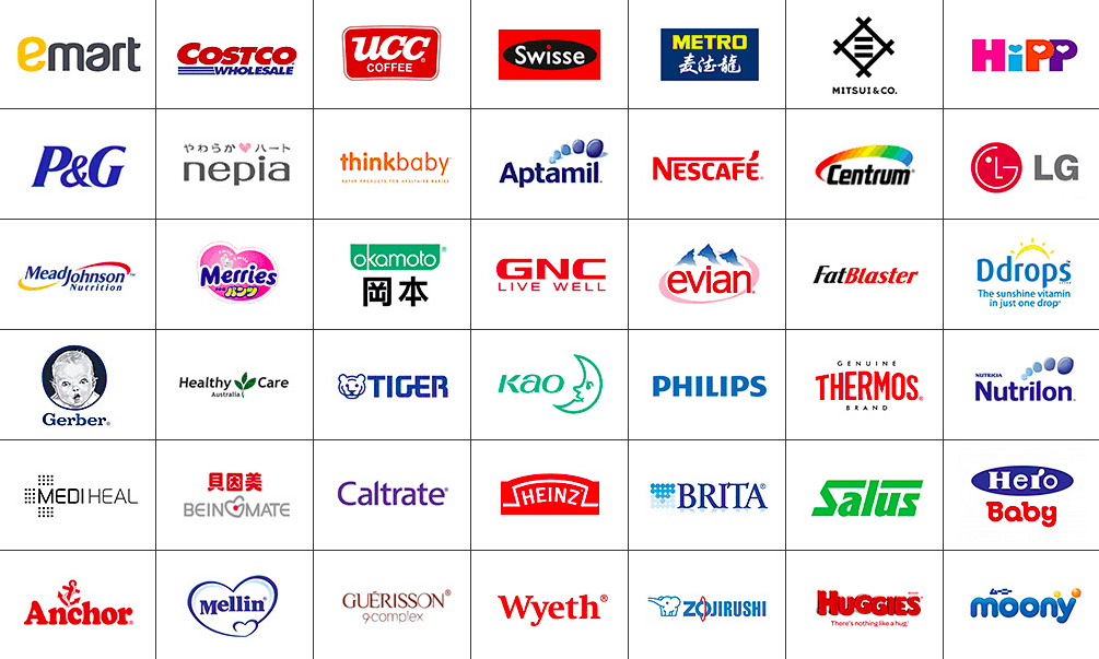 Example of partner brands of Kaola | Dragon Social