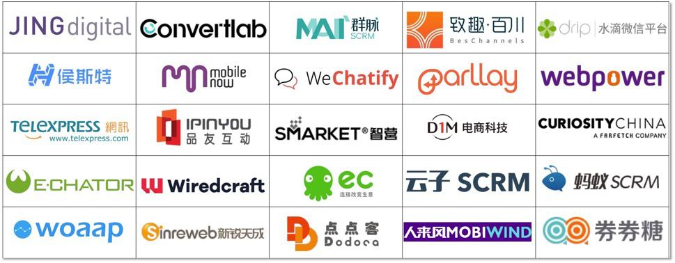 A list of WeChat CRMs